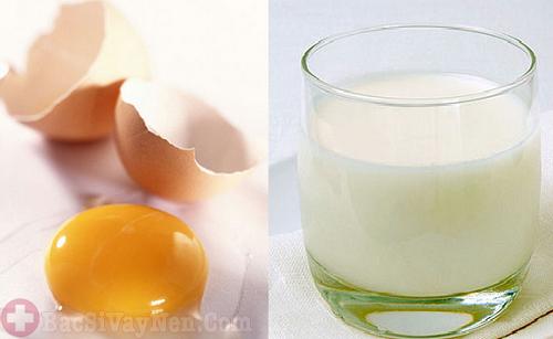 Chữa bệnh vẩy nến bằng lòng đỏ trứng gà và sữa tươi
