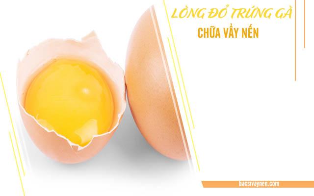 Cách chữa vẩy nến bằng lòng đỏ trứng
