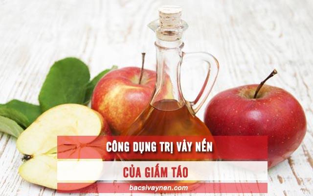 cách chữa vẩy nến bằng giấm táo