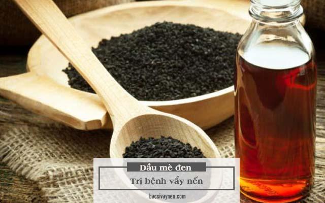 tinh dầu mè đen trị vẩy nến