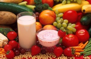 A diet rich in soy and whey protein, found in products such as soy milk and low-fat yogurt, has been shown to reduce breast cancer incidence in rats. USDA photo by Peggy Greb.