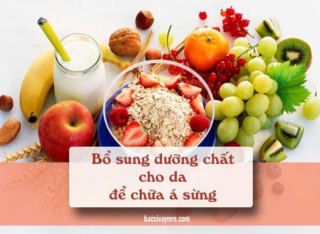 chế độ ăn uống hỗ trợ điều trị bệnh á sừng