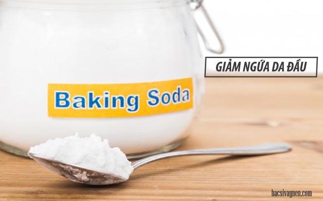 giảm ngứa da đầu bằng baking soda