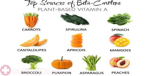 Thực phẩm giàu beta-caroten mà người bệnh á sừng nên ăn