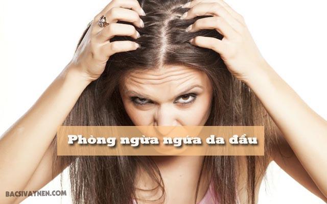 ngăn ngừa da đầu ngứa và nổi mụn